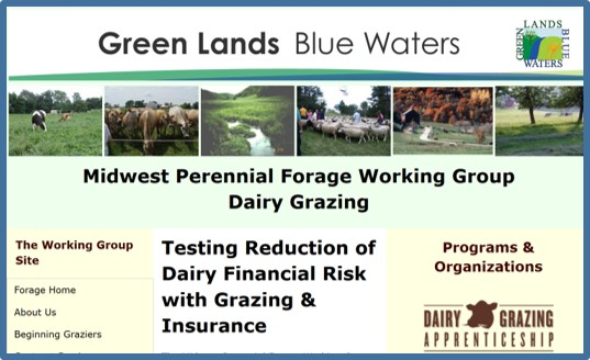 Green Lands Blue Waters: Perennials for Livestock