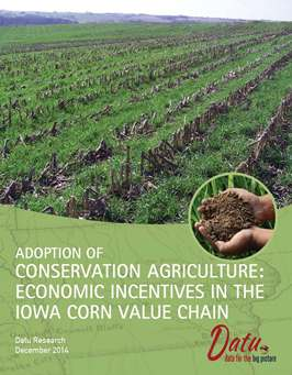 Cover image from Datu report on Conservation Agriculture in Iowa