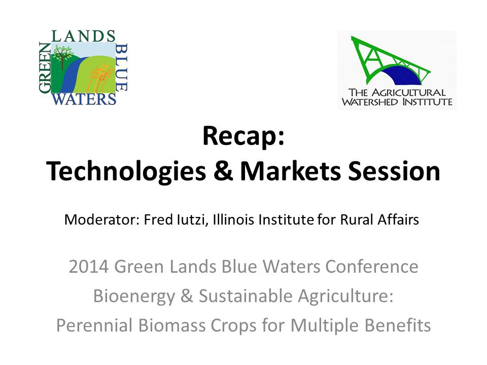 cover image from recap of technologies & markets presentation by Fred Iutzi 2014