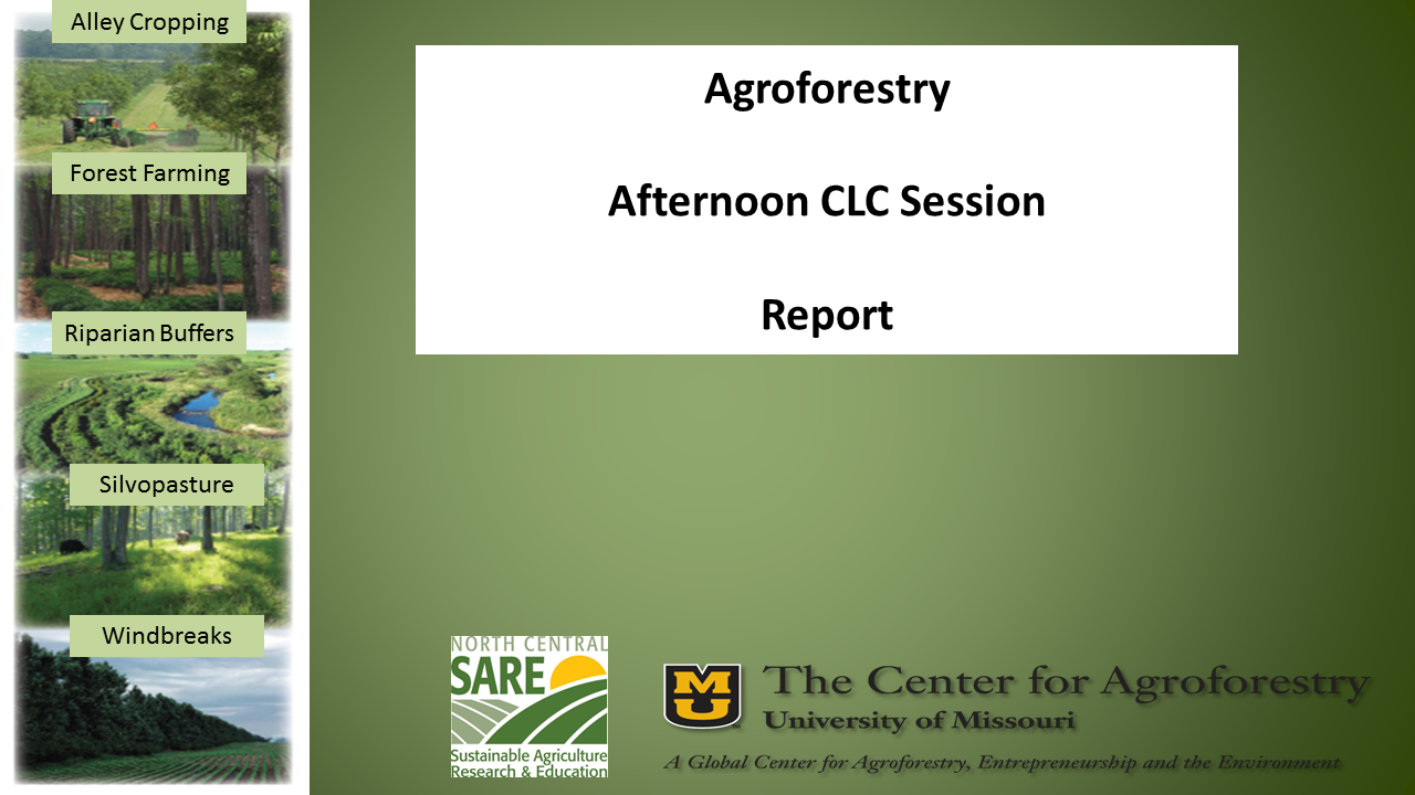 slide from Mike Gold's agroforestry presentation