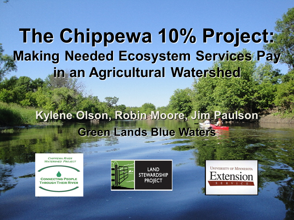 slide from Chippewa 10% Project presentation